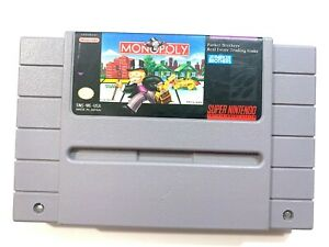 MONOPOLY-Super-Nintendo-SNES-Game-Tested-Working-Authentic
