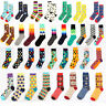 Fashion Happy Socks Women Mens Casual Dress Socks Polka Dots Multi-Color Hosiery