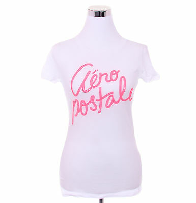 Aeropostale Women Casual Solid Graphic T Shirt Style 4221-Free $0 Shipping