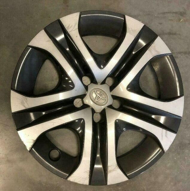 "1 OEM Toyota Rav4 17"" Hubcap Wheel Cover 2016 2017 2018 Black/Silver #61179 #2"