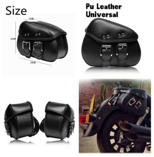 New Mini Water/& Heat Resistant PU leather Motorcycle Saddle Luggage Bags Storage
