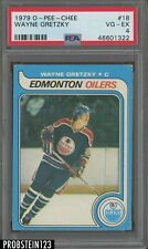1979 O-Pee-Chee OPC Hockey #18 Wayne Gretzky RC Rookie HOF PSA 4 VG-EX