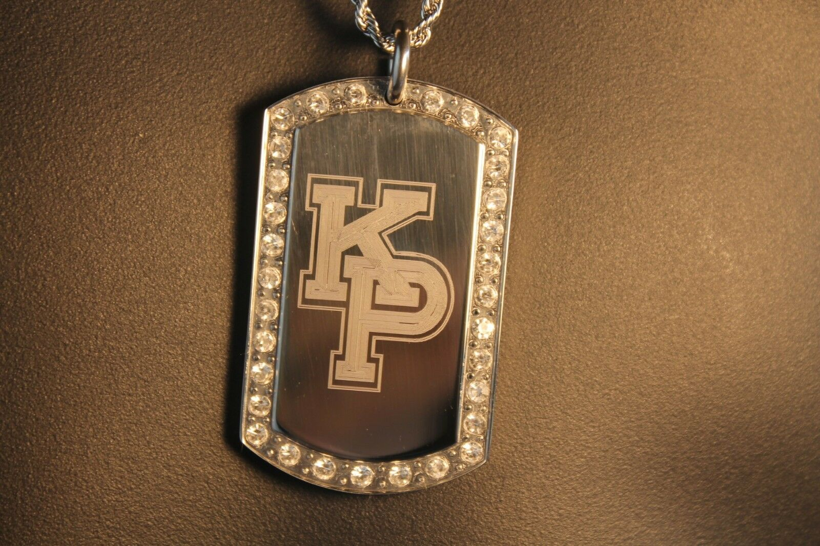 USMMA US MERCHANT MARINE ACADEMY BLING STAINLESS STEEL DOG TAG KP KINGS POINT