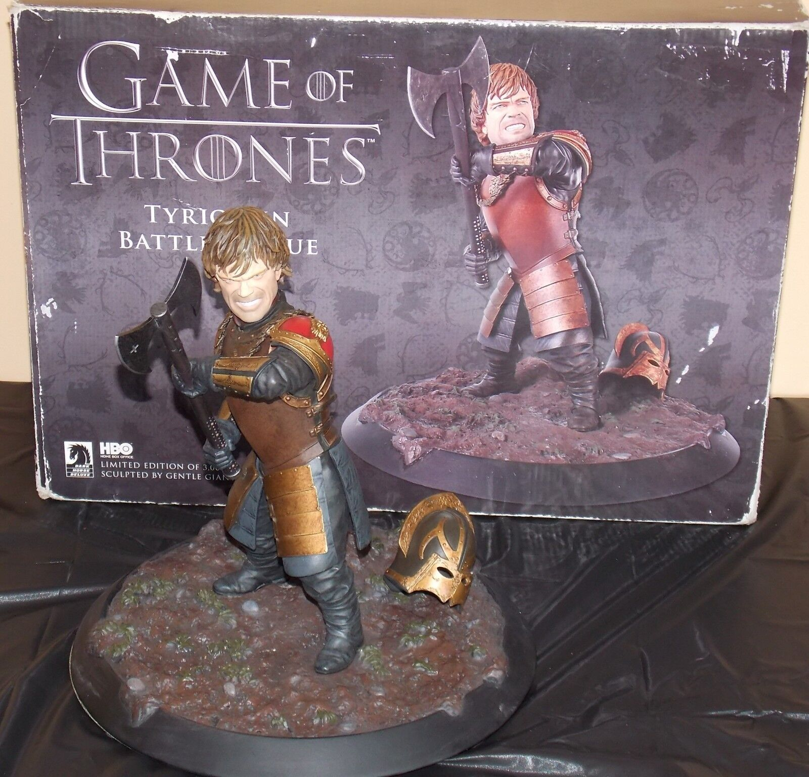 Game Of Thrones Tyrion Battle Statue In Box Limited Edition of Only 3000 Made