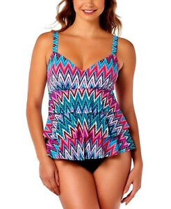 41a451107cd4f Image is loading Swim-Solutions-Size-18D-Island-Sunset-Ruffle-Tiered-