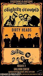slightly stoopid dirty heads stick figure awesome tour 2015 concert poster ebay. Black Bedroom Furniture Sets. Home Design Ideas