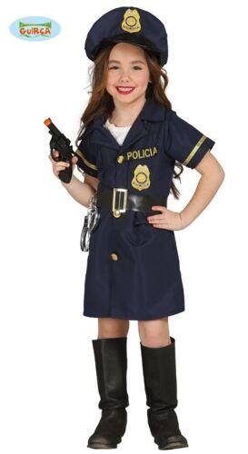 Guirca Polizei Kostüm für Mädchen Polizistin Kleid Polizeikostüm