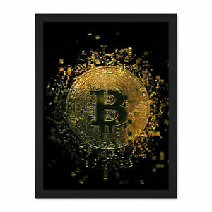 Modern cryptocurrency art bitcoin