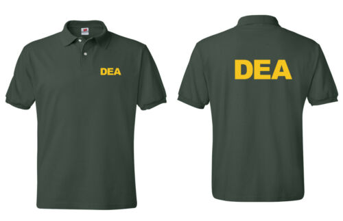 "Shirts S-5XL. /""DEA/"" Drug Enforcement Agency Law Enforcement Polo T"