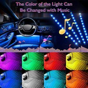 Interior-del-Coche-Reposapies-48-LED-Tira-Luces-Rgb-Multicolor-Lampara-de-atmosfera-remoto