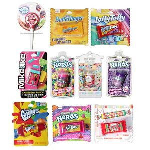TASTE-BEAUTY-1-Lip-Balm-Gloss-CANDY-FLAVORS-Figural-Containers-YOU-CHOOSE