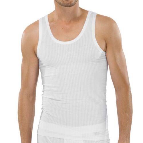 Schiesser Uomo Authentic 2er PK Sotto Camicia S M L XL XXL Bianco Nero Grigio Nuovo