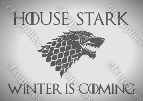 Game of Thrones STARK Melinex AIRBRUSH STENCIL 190 micron A5