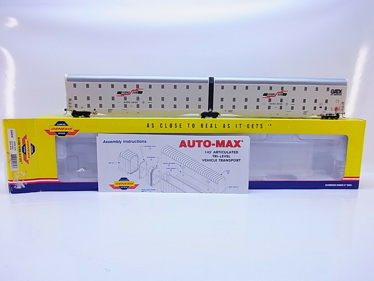 55177  Neuwertiger Athearn Genesis H0 G4416 US Ferro sor Car-Max Garx 68166 OVP
