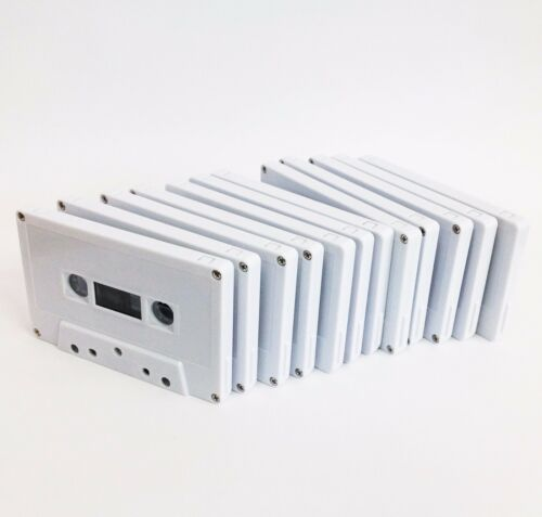 46 minute x 12 ea Bulk Pack White Shell Blank Cassette Tape fine quality Korean