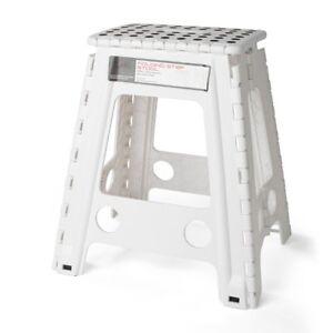 Acko White 18 Inches Non Slip Folding Step Stool For Kids