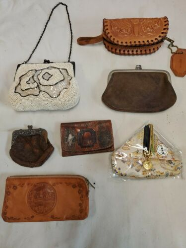 Lot Vintage Small & Large Vintage beaded Leather C
