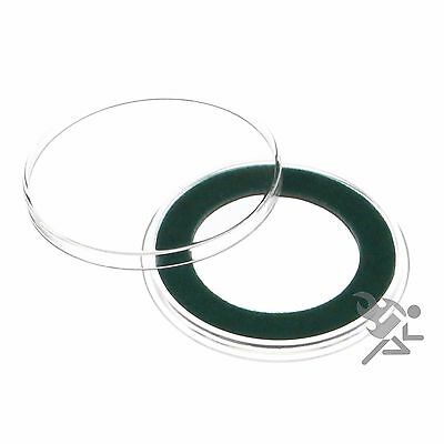 Air-Tite 32mm Green Velour Ring Coin Capsule Holders Qty 5