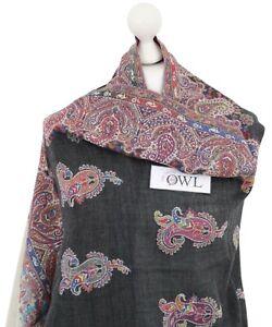 informazioni per 49f08 9f4b7 Details about Soft & Warm 100% Pure Pashmina Embroidered Wool Shawl Indian  Shawls Kani Scarf