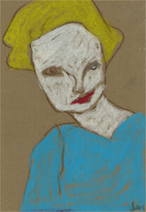 Ben Carrivick - Contemporary Pastel, Blonde Hair and Red Lips