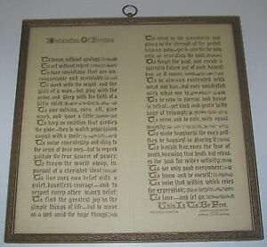Antiques Frugal Antique Framed Victorian Declaration Of Freedom Edward Earl Purington Wood/glass Sales Of Quality Assurance