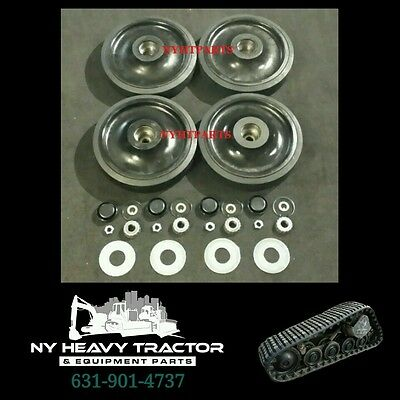 "2238396 223-8396 FRONT Idler Wheel Kit 14"" X4 Caterpillar 247 257 247B 257B CAT"