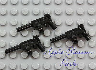 NEW Lot/3 Lego Minifig BLACK TOMMY GUN - Joker/Batman Round Magazine Weapon Set