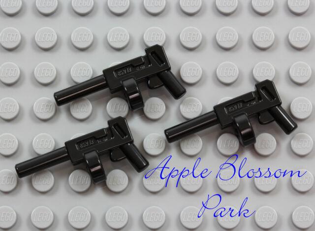 NEW Lot/3 Lego Minifig BLACK TOMMY GUN - Joker/Batman Round Magazine Weapon Set