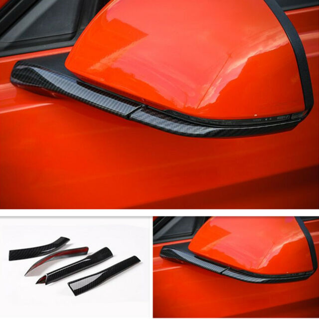 For Ford Mustang 2015-2018 Carbon Fiber Style Rearview Mirror Bottom Cover Trim