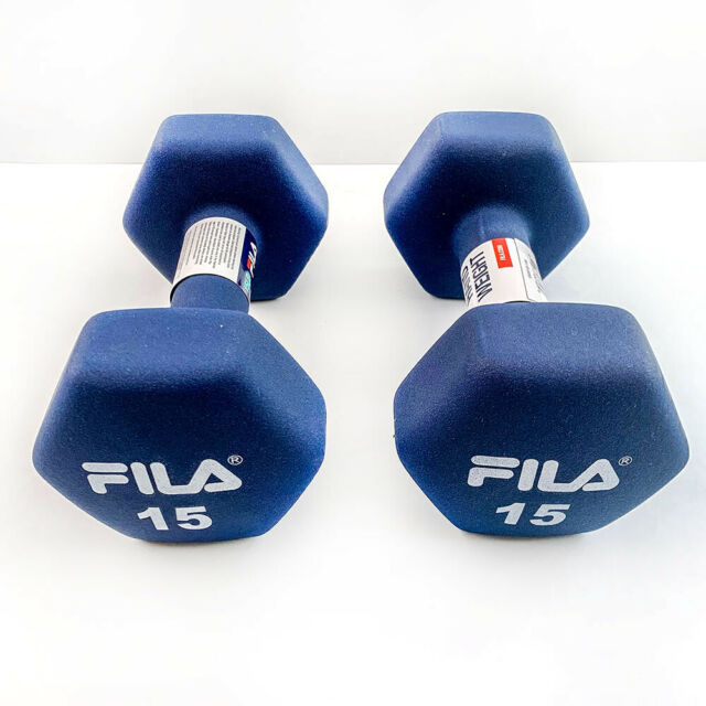 2 x 3lb Gray Neoprene Hex Dumbbell Hand Weight Pair Set 6 Pounds Total Fitness
