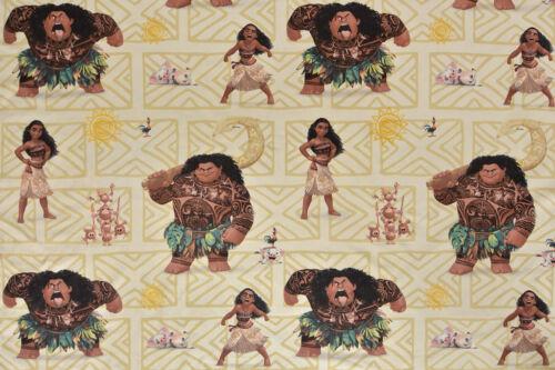 100/% Cotton Disney Moana and Maui Fabric Curtain Large Design Cushions
