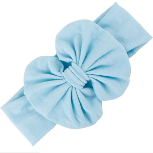 Girls Baby Cotton Bow Hairband Stretch Turban Knot Head Wrap for Kids STUK