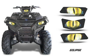 Headlight Eye Graphics Kit Decal Cover For Polaris Scrambler 2010-2012 ECLIPSE Y