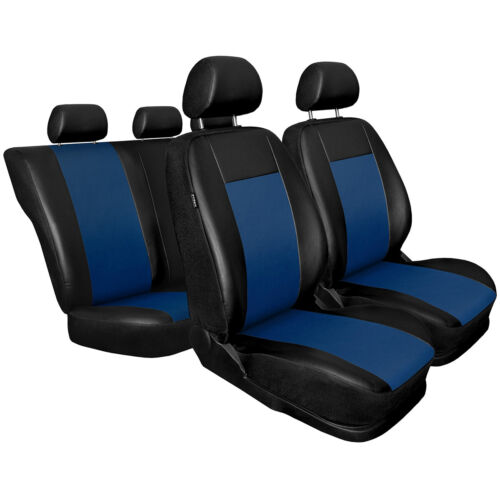 faux leather CM-BL Universal Car Seat Covers Set for VAUXHALL CORSA A B C D E