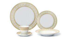 Royalty-Porcelain-20-pc-White-Gold-plated-Dinnerware-Set-for-6-Greek-Pattern