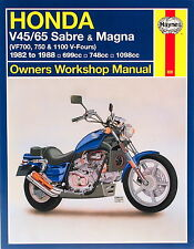 Honda Vf 750 Cj Super Magna (rc28) 1988 Haynes Manual