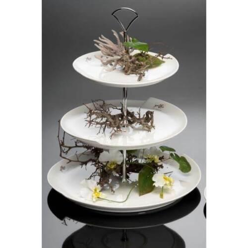 39 CM D 30 cm Sandra Rich 3 à Etagere Gâteau plaque porcelaine blanc H