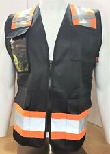 Fx Two Tone Black Safety Vest With 4 Front Pocket Small To Xl