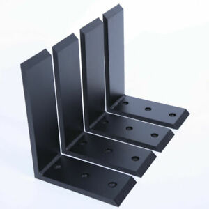 """Ecotric 4 Heavy Duty Black Steel 6""""x8"""" Countertop Support Brackets Corbel Lot L"""