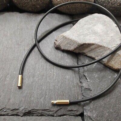 Kautschuk Ø 4 mm 333er G.Gold Bajonettverschluss Länge wählbar Kautschukkette