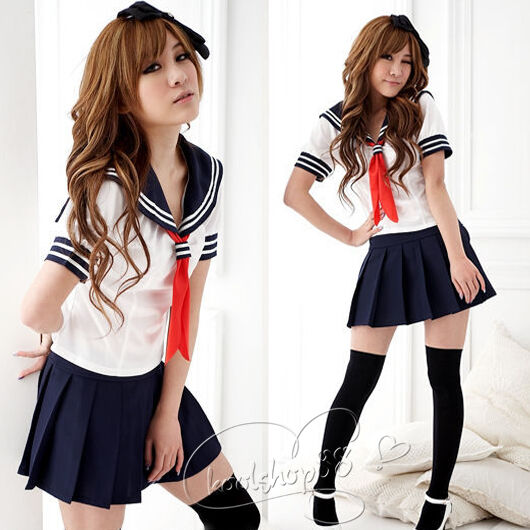 Sexy Japan adult School Girl cosplay halloween costume women fancy dress uniform