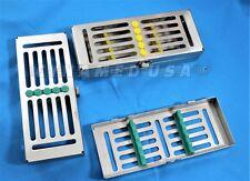 1 German Dental Autoclave Sterilization Cassette Rack Box Tray For 5 Instrument