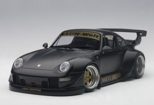 PORSCHE 993 RWB MATT BLACK//GOLD WHEELS 1//18 AUTOart