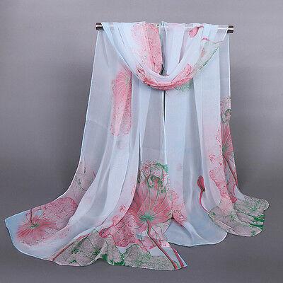 New Women's Lady Fashion Girls Long Soft Chiffon Scarf Wrap Shawl Scarves Stole