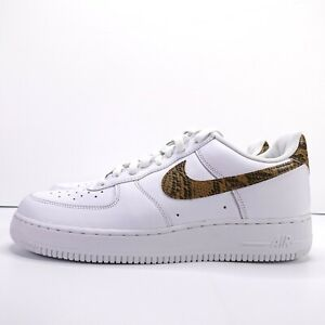 Details about Nike Air Force 1 Low Retro PRM QS Ivory Snake White Gold AO1635 100 Size 11
