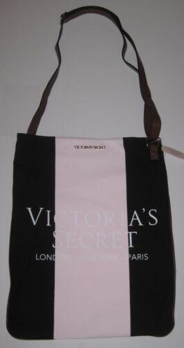 VICTORIA/'S SECRET PINK BLACK COLORBLOCK GOLD LOGO MESSENGER CROSSBODY BAG PURSE