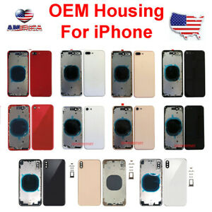 OEM-New-Back-Glass-Housing-Cover-Frame-Assembly-For-iPhone-8-Plus-X-XS-Max-XR