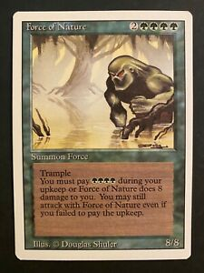 MTG Magic the Gathering - ** Force of Nature ** - Revised - NM/LP+