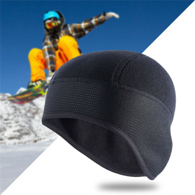 9a1f252c25de6 Men Fleece Thermal Winter Cycling Running Black Ear Warm Cap Outdoor Sports  Hat