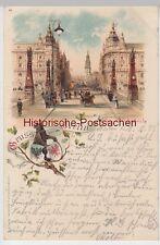 (93802) AK Gruss aus Berlin, Kaiser Wilhelm-Brücke, Litho 1898